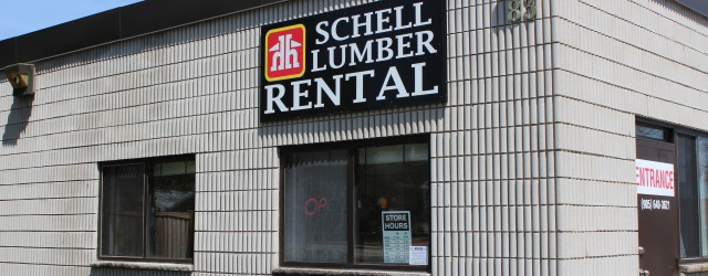 Schell Lumber Tool Rental.  When you rent you always have the right tool for the job. Now you can buy and rent everything you need for your job, in one […]